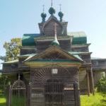 село Нелазское, Деревянная церковь Успения Божией Матери