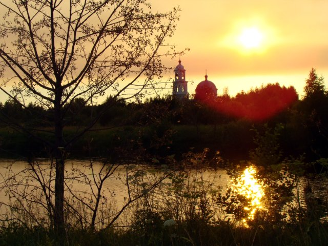 Церковь на пересечении Волги и Чёрной Мазы (Сельская Маза)