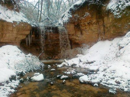 Горчаговщинский (Горчаковский) водопад зимой