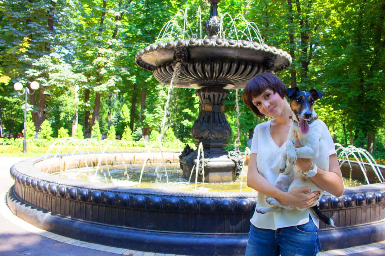 В Мариинский парк Киева с собакой