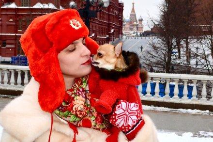 А мы идем, шагаем по Москве! Зимние каникулы чихуахуа Малины