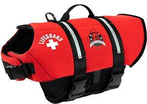 Спасательный жилет для собак Paws Aboard Red Neoprene Dog Life Jacket