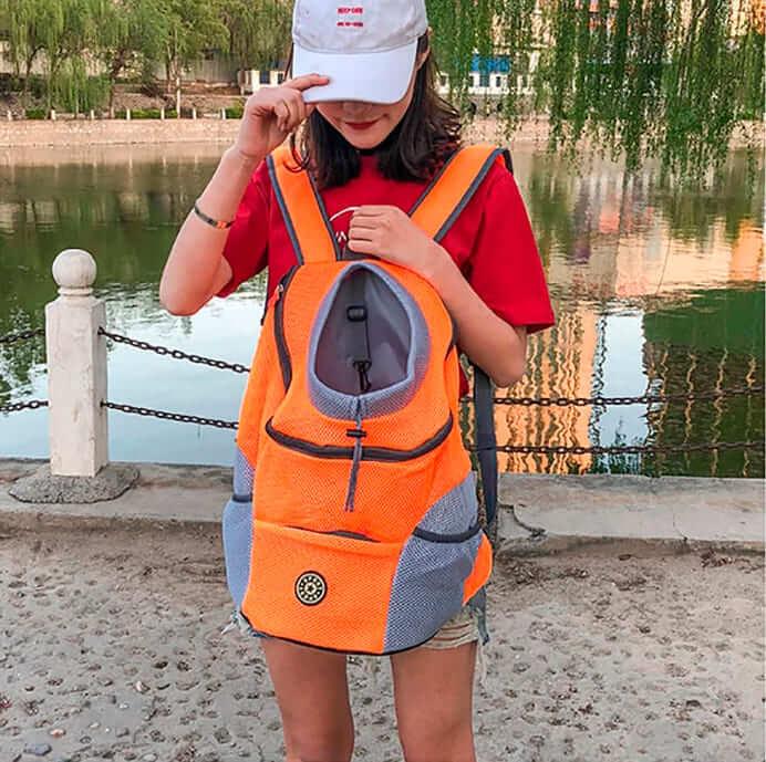 Дорожный рюкзак для собаки,  затягивающееся отверстие, ремешок