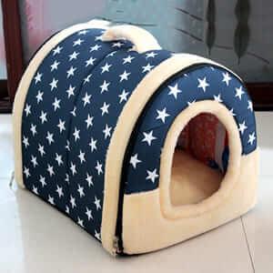 Домик для домашних питомцев с ковриком, превращается в кровать