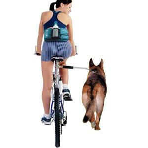 Эластичный велосипедный поводок для собак