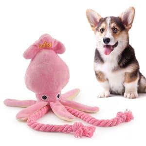 Очаровательная игрушка-кальмар для собак, со звуком